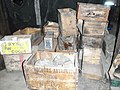 Supply boxes in Discovery Hut.jpg