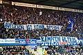 Supporters du Racing Club de Strasbourg (RCSA) - banderole de soutien aux supporters allemands du Karlsruher SC (KSC).jpg