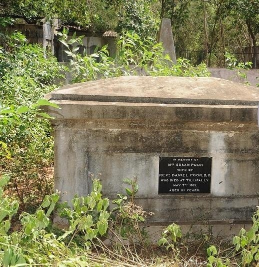 Susan Poor wife of Daniel Poor burial place at Tellippalai church1