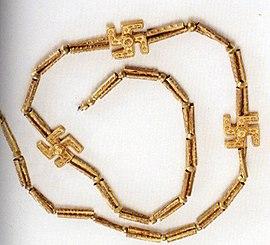 Иранское ожерелье I тысячелетия до н. э., найденное при раскопках в Гилянe