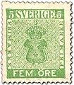 Swedish stamp 5 Öre POST.054044.jpg