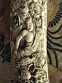 Sword scabbard (detail), Japan, artist unknown, carved ivory - George Walter Vincent Smith Art Museum - DSC03544.JPG