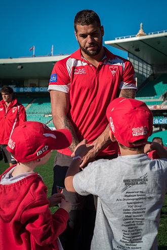 "2015 AFL finals series - Image: Sydney Swans Fan Day Lance ""Buddy"" Franklin"