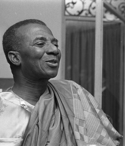 Sylvanus Olympio, the first president of Togo, was assassinated by military officers in the 1963 coup. Sylvanus Olympio.jpg