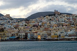 Ermopouli, Harbour of Syros Island, Greece/Por...