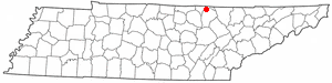 Pall Mall, Tennessee - Location of Pall Mall, Tennessee