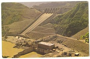 Shihmen Dam - The spillway, nearing completion in 1964