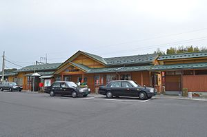 Tamatsukuri-Onsen Station - Tamatsukuri-onsen Station in March 2016