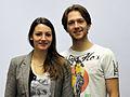 Tanja Kolbe und Stefano Caruso bei der Olympia-Einkleidung Erding 2014 (Martin Rulsch) 01.jpg