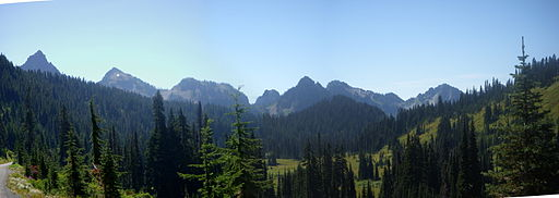 The Rugged Tatoosh Range from Paradise
