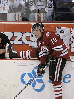 Taylor Beck (ice hockey) - Beck as a member of the Guelph Storm in 2010