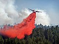 Taylor Fire air support drops slurry (3910846842).jpg