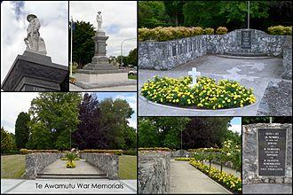Te Awamutu - Te Awamutu war memorials