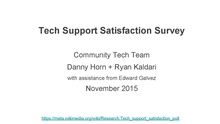Tech support satisfaction survey - Lightning talk.pdf
