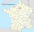 Températures maxi du 11 février 2010 France métropolitaine.png