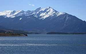 Colorado - Ten Mile Range and Dillon Reservoir near Breckenridge, Colorado