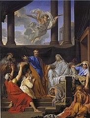 Saint Pierre ressuscitant la veuve de Tabitha