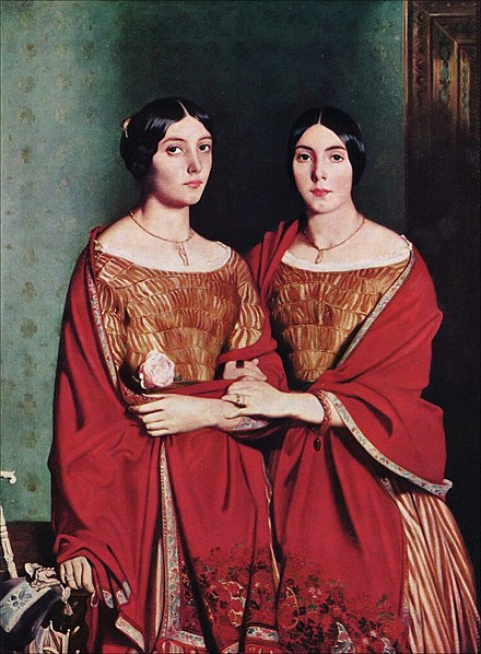 The Two Sisters, 1843, Paris, Louvre Theodore Chasseriau - The Artist's Sisters - WGA4808.jpg