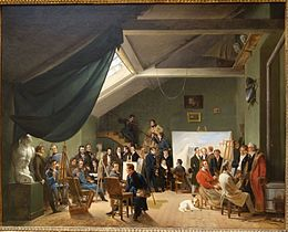 The Artist's Studio by Auguste-Xavier Leprince, 1826, oil on canvas - Chazen Museum of Art - DSC02202.JPG