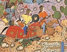 The Battle between Bahram Chubina and Sava Shah LACMA M.2009.44.1 (2 of 9).jpg