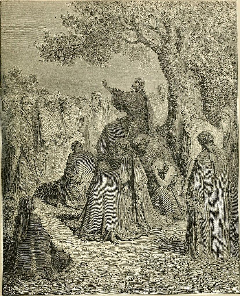 군중에게 설교하시는 예수(귀스타브 도레, Gustave Dore, 1866년)