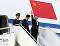 The Chinese Premier, Mr. Wen Jiabao arrives at the Air force Station Palam, in New Delhi on December 15, 2010.jpg