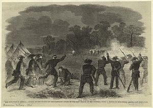 39th New York Volunteer Infantry Regiment - Illustrated London News: attack on Garibaldi Guard pickets on the east branch of the Potomac