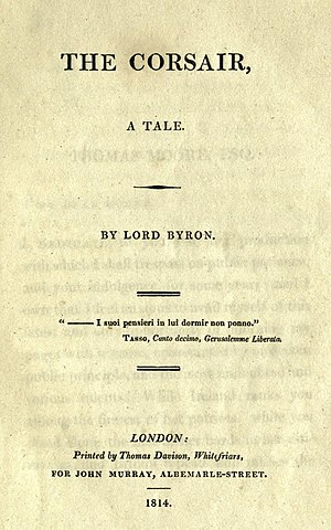 1814 in literature - Image: The Corsair 1st ed
