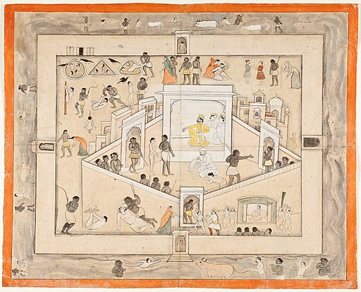 The Court of Yama, God of Death, circa 1800