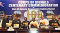 The Defence Minister, Shri A. K. Antony unveiled the Corps of Signals coffee table book on the occasion of Corps of Signals Centenary celebrations, in New Delhi on February 17, 2011.jpg