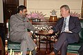The European Commissioner for Trade, Mr. Karel De Gucht meeting the Union Minister of Commerce and Industry, Shri Anand Sharma, in New Delhi on March 04, 2010.jpg