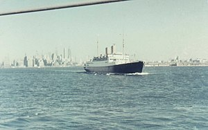 The German passenger ship Berlin runs from New York - 1957.jpg