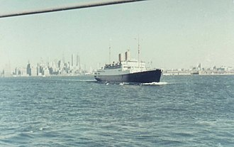 MS Gripsholm (1924) - NDL passenger ship Berlin starting from New York City in 1957