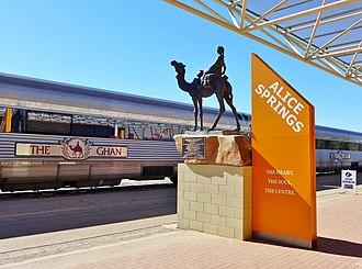 The Ghan - The Ghan at Alice Springs in July 2015
