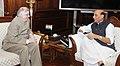 The Governor of Kerala, Shri Justice (Retd.) P. Sathasivam calling on the Union Home Minister, Shri Rajnath Singh, in New Delhi on May 22, 2017.jpg