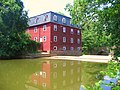 The Lake Carnegie dam at The Kingston Gristmill, Princeton, NJ, USA - panoramio - Gary Miotla (1).jpg