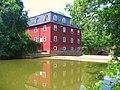 The Lake Carnegie dam at The Kingston Gristmill, Princeton, NJ, USA - panoramio - Gary Miotla (1).jpg