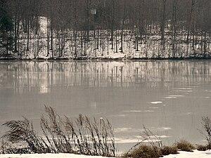 Frances Slocum State Park - A frozen Frances Slocum Lake