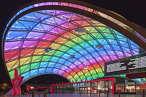 Adelaide Entertainment Centre - Adelaide Entertainment Centre at night after redevelopment.