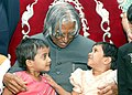 The President Dr. A.P.J. Abdul Kalam visited Preet Mandir and met destitute and abandoned children in Pune on February 1, 2005.jpg