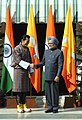 The Prime Minister, Dr. Manmohan Singh meeting the King of Bhutan, His Majesty Jigme Khesar Namgyel Wangchuck, in New Delhi on January 25, 2013 (1).jpg