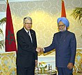 The Prime Minister, Dr. Manmohan Singh meeting the Prime Minister of Morocco, Mr. Abbas El Fassi, on the sidelines of the Nuclear Security Summit, in Washington on April 12, 2010.jpg
