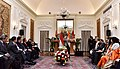 The Prime Minister, Shri Narendra Modi and the President of Indonesia, Mr. Joko Widodo at the Joint Press Statement, at Hyderabad House, in New Delhi on December 12, 2016 (2).jpg