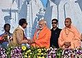 The Prime Minister, Shri Narendra Modi at the concluding ceremony of the Narmada Sewa Yatra & launching of Narmada Sewa Mission, in Amarkantak, Madhya Pradesh (1).jpg
