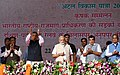 The Prime Minister, Shri Narendra Modi laying the foundation stone for national highway projects and the Pendra-Anuppur 3rd railway line, at Janjgir-Champa, in Chhattisgarh (1).JPG