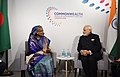 The Prime Minister, Shri Narendra Modi meeting the Prime Minister of Bangladesh, Ms. Sheikh Hasina, on the sidelines of CHOGM 2018, in London on April 19, 2018 (2).JPG