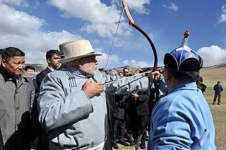 Naadam - Indian Prime Minister Narendra Modi at Naadam in Ulaanbaatar