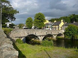 Ramelton Town in Ulster, Ireland