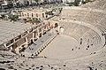 The Roman Theatre of Philadeliphia built during the reign of Antonius Pius, Amman, Jordan (39374766582).jpg