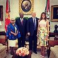 The Trumps welcomed Kenya's President.jpg